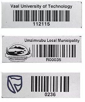 Barcode Asset Label, Aluminium, Bulk Pack