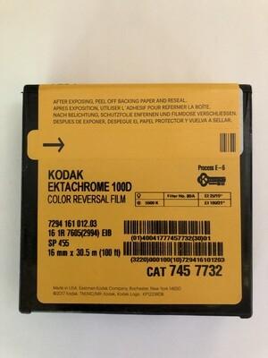 Kodak Ektachrome 16mm Colour Reversal 100D 100ft (33m) 7294