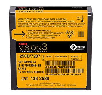 Kodak 16mm Vision3 100ft (33m) 250D/7207