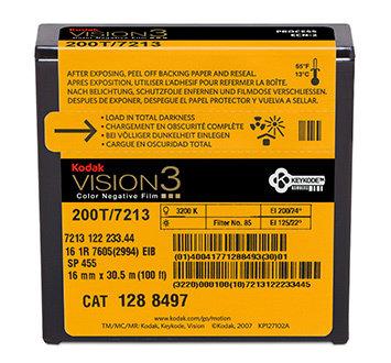 Kodak 16mm Vision3 100ft (33m) 200T/7213