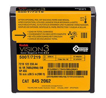 Kodak 16mm Vision3 100ft (33m) 500T/7219