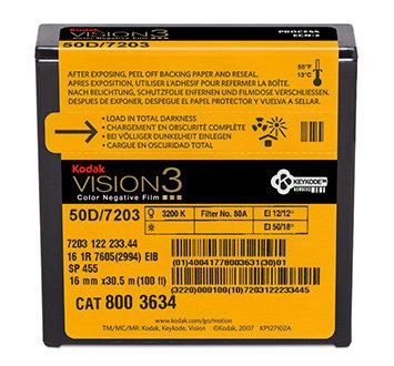 Kodak 16mm Vision3 100ft (33m) 50D/7203