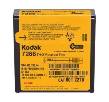 Kodak 16mm Tri-X Black & White Reversal 100ft (33m) 7266