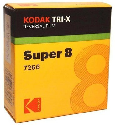 Kodak Super 8 TRI-X Black & White Reversal Film 7266