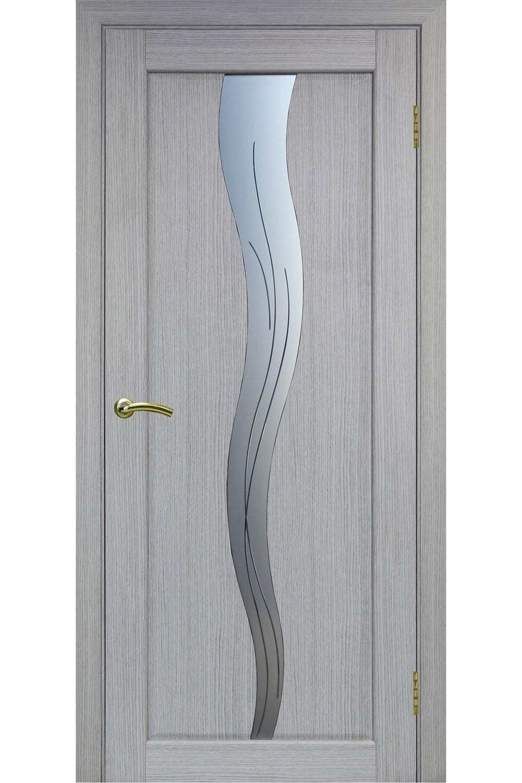 """Дверь эко-шпон Оптима Порте """"730"""" остекленная """"алмазная гравировка"""""""