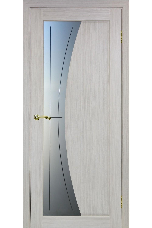 """Дверь эко-шпон Оптима Порте """"721"""" остекленная """"алмазная гравировка"""""""