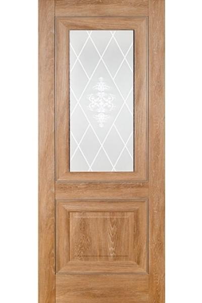 """Дверь эко-шпон """"Модель 62"""" остекленная, Терри"""