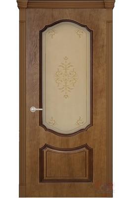 Дверь остекленная шпонированная