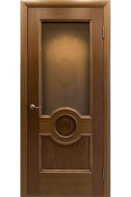 """Дверь остекленная шпонированная """"АМК 20"""" орех, """"АМК"""""""