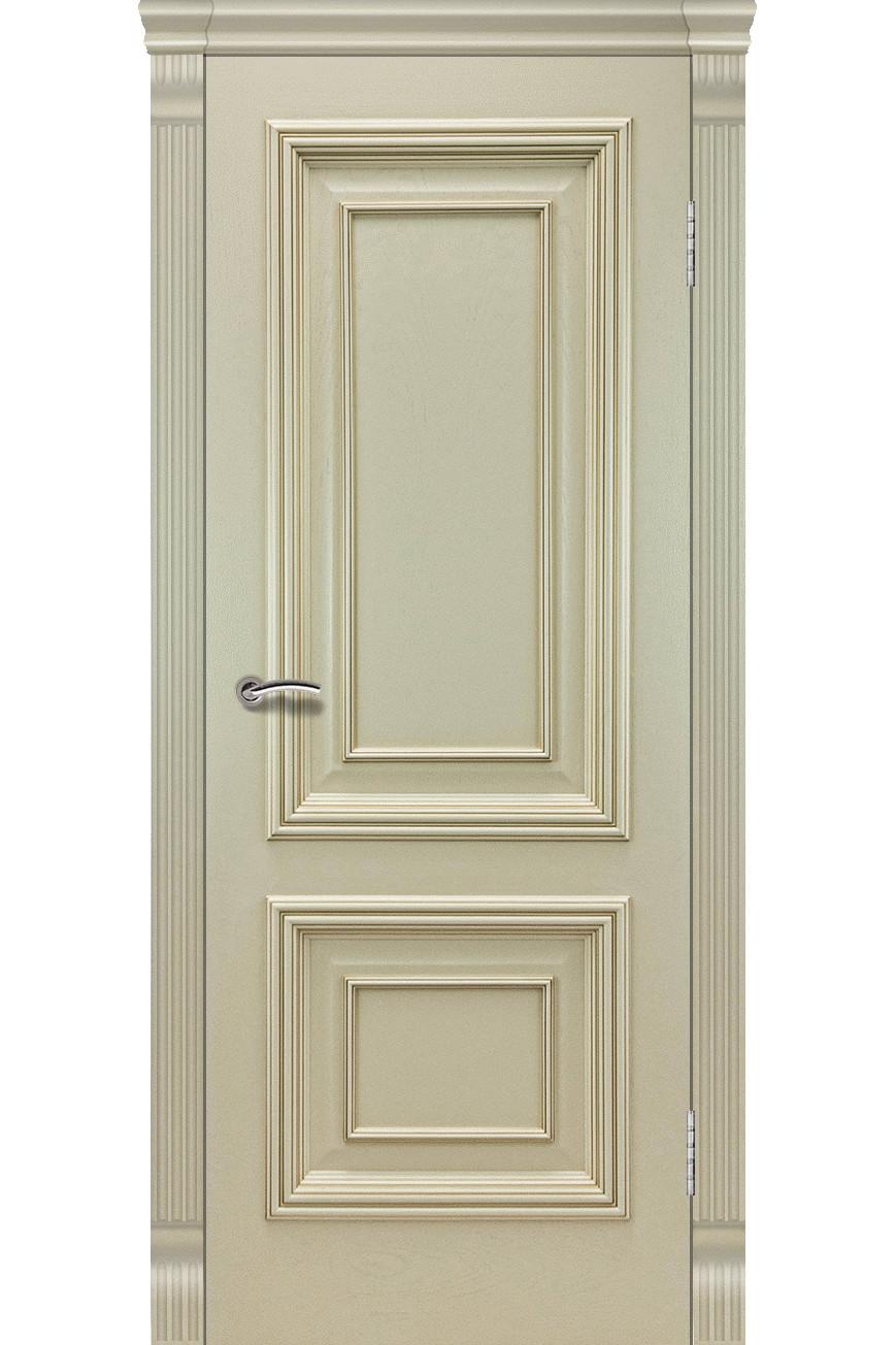 """Дверь массив шпон """"Венера-2"""" глухая, слоновая кость, Эллада"""