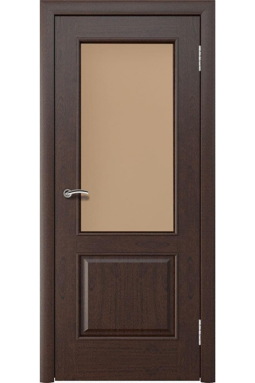 """Дверь остекленная массив шпон """"Мира"""" красное дерево, Эллада"""