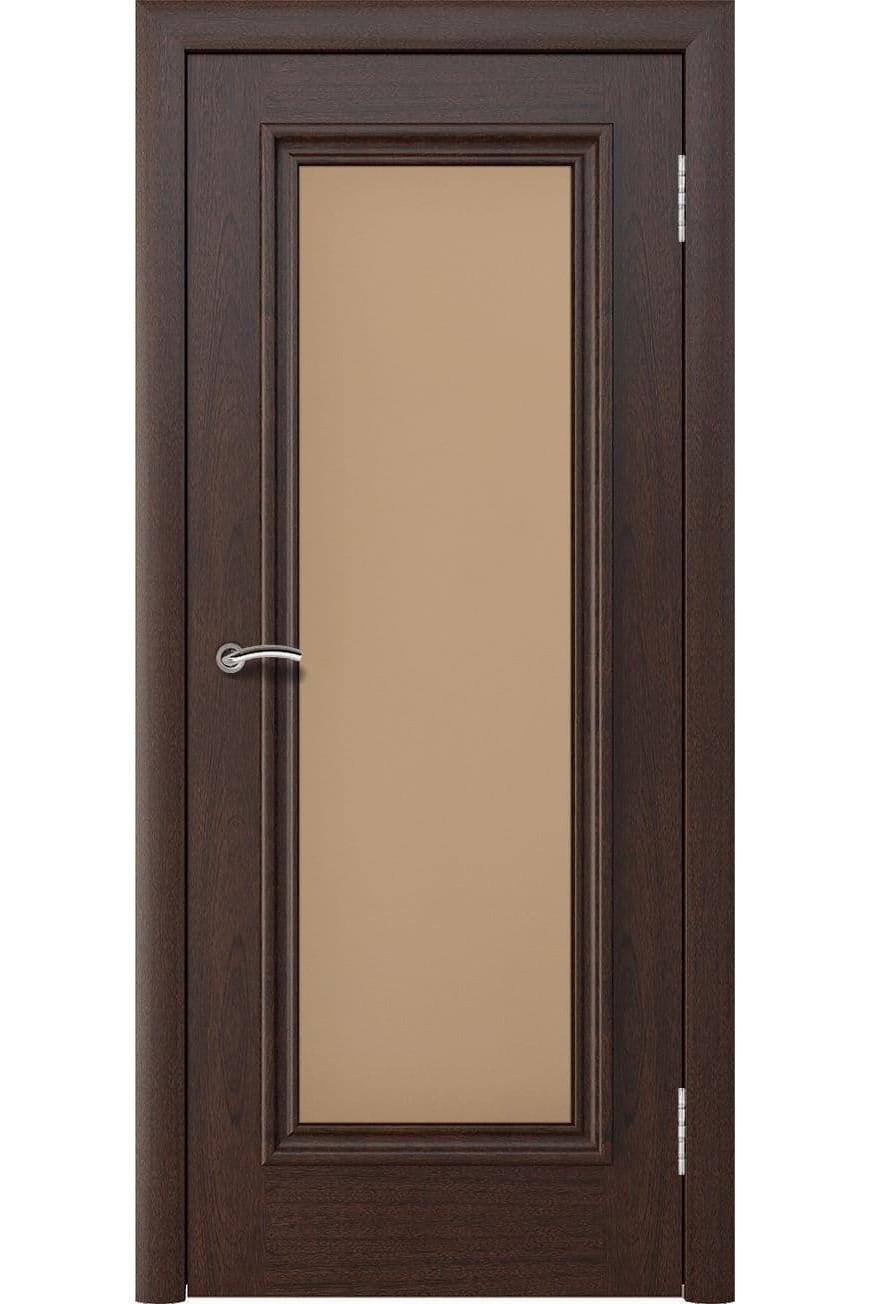 """Дверь массив шпон """"Аида Нова"""" остекленная красное дерево, Эллада"""