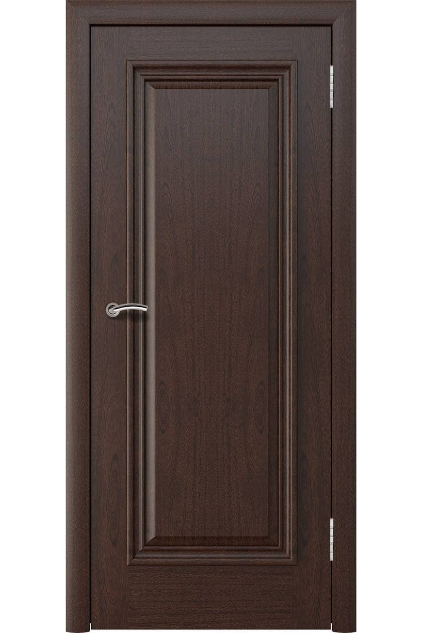 """Дверь массив шпон """"Аида Нова"""" глухая красное дерево, Эллада"""