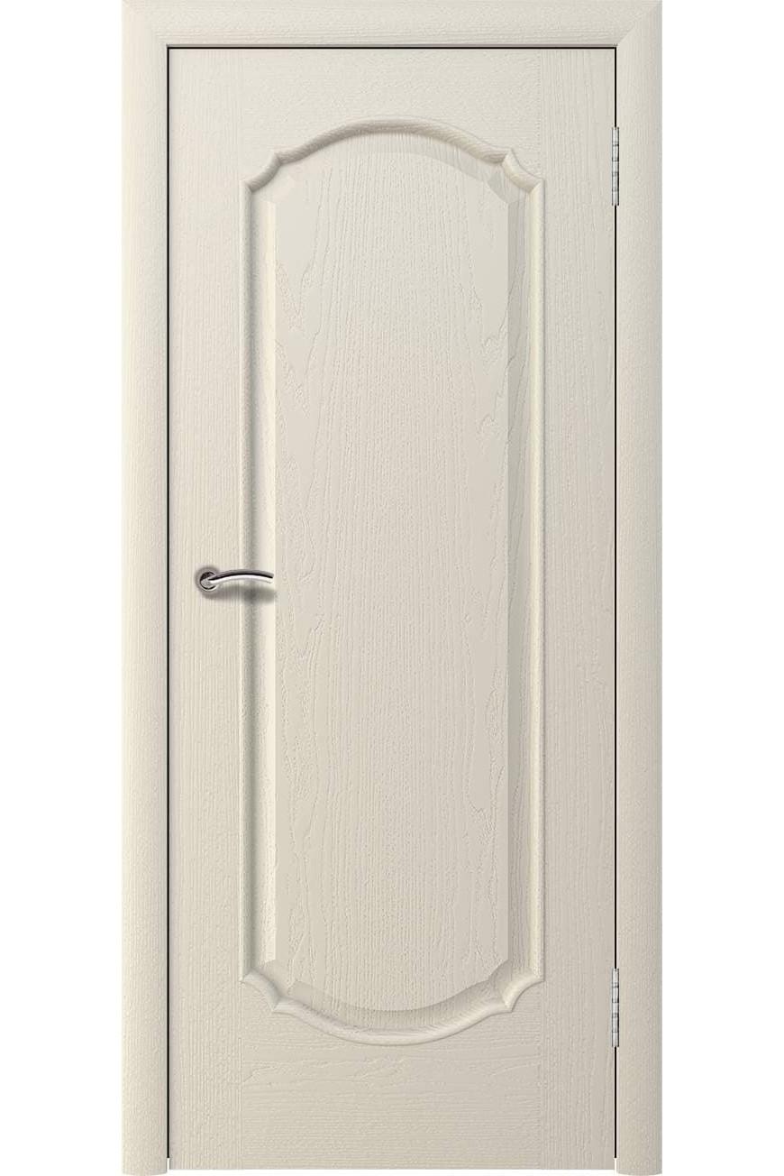 """Дверь массив шпон """"Афина 2"""" глухая, слоновая кость, Эллада"""