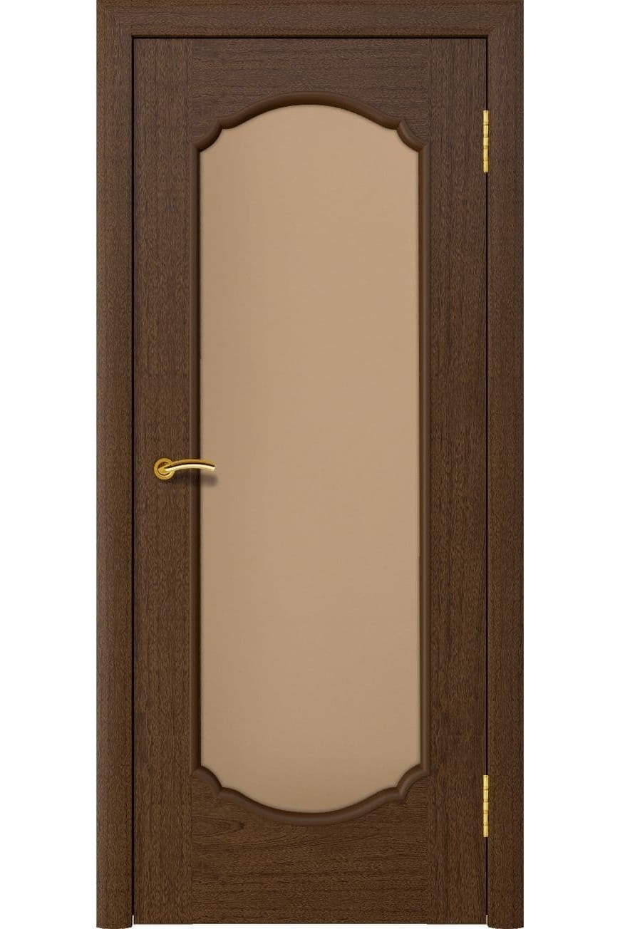 """Дверь массив шпон """"Афина 2"""" остекленная, сапель тон 2, Эллада"""