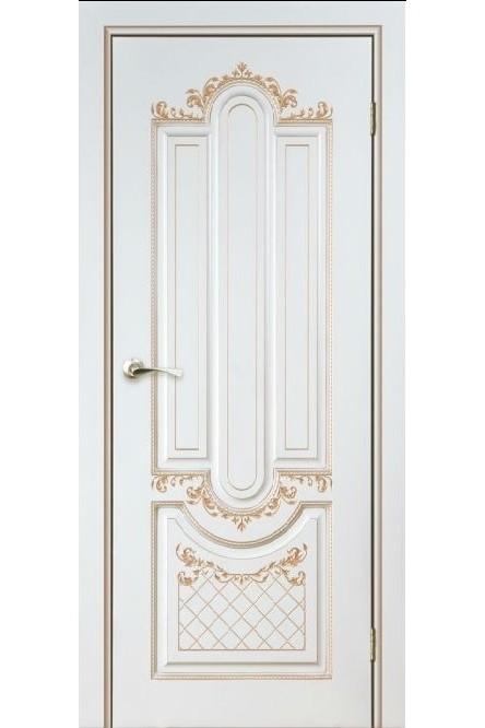 """Дверь глухая массив шпонированный """"Александрия"""" белое золото + патина, Версаль"""