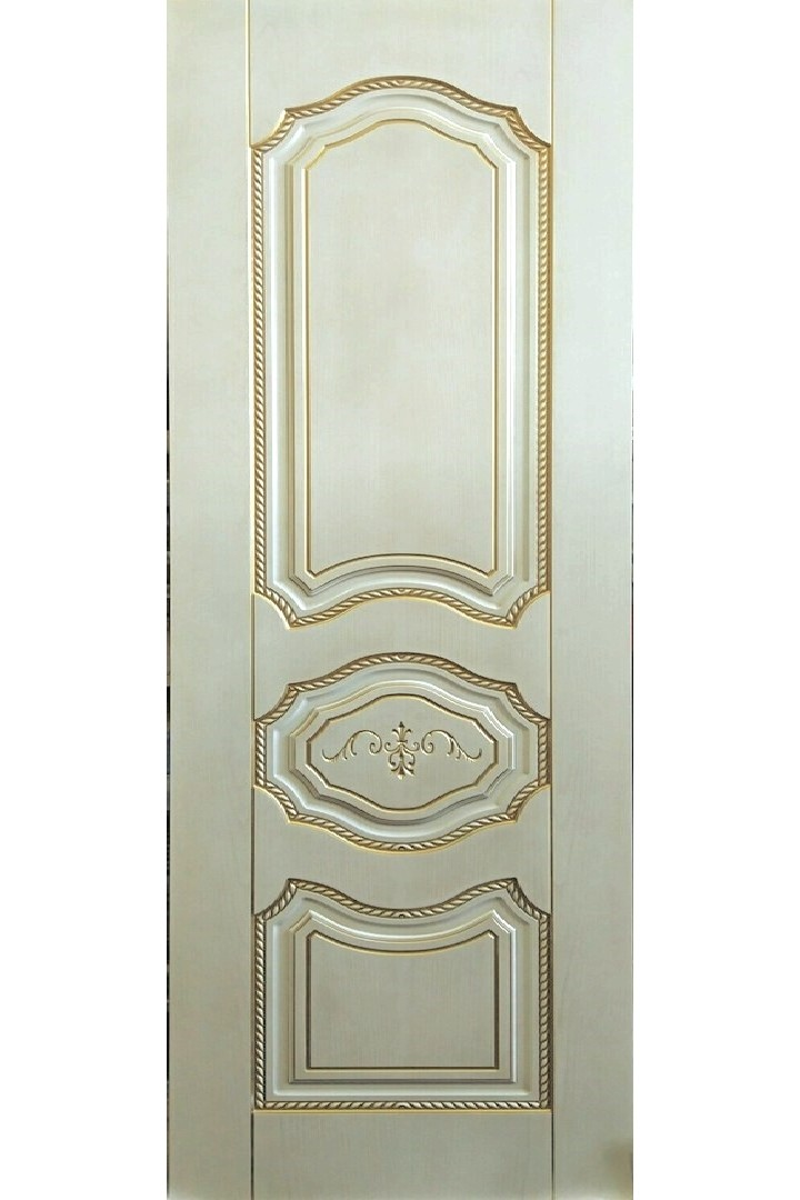 """Дверь глухая массив шпонированный """"Марко"""" белое золото + патина, Версаль"""