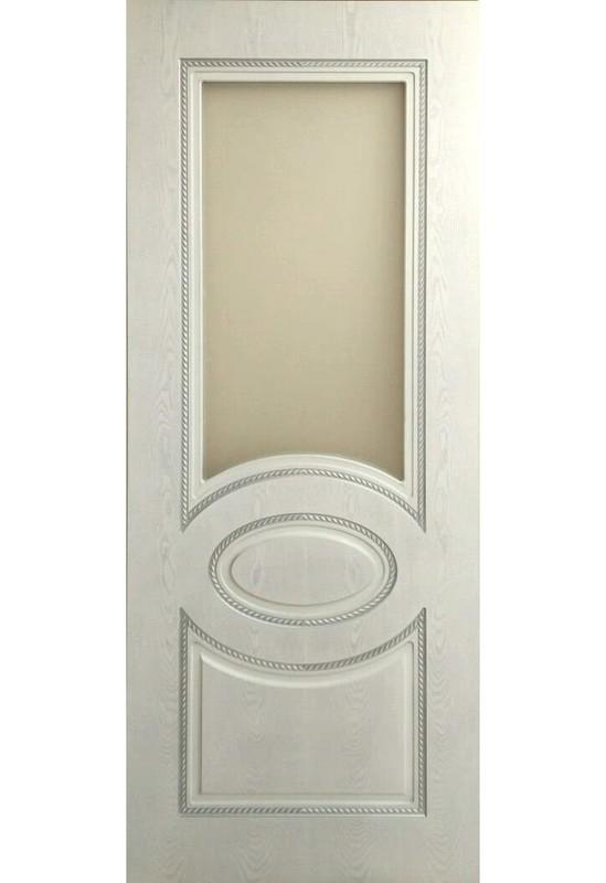 Дверь остекленная массив шпонированный