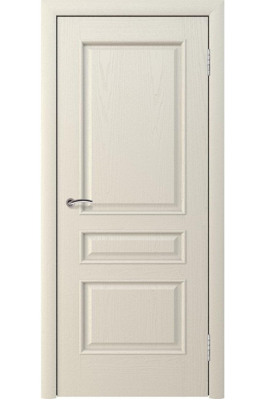 """Дверь глухая массив шпонированный """"КАЛИНА"""" дуб жемчуг, """"АМК"""""""