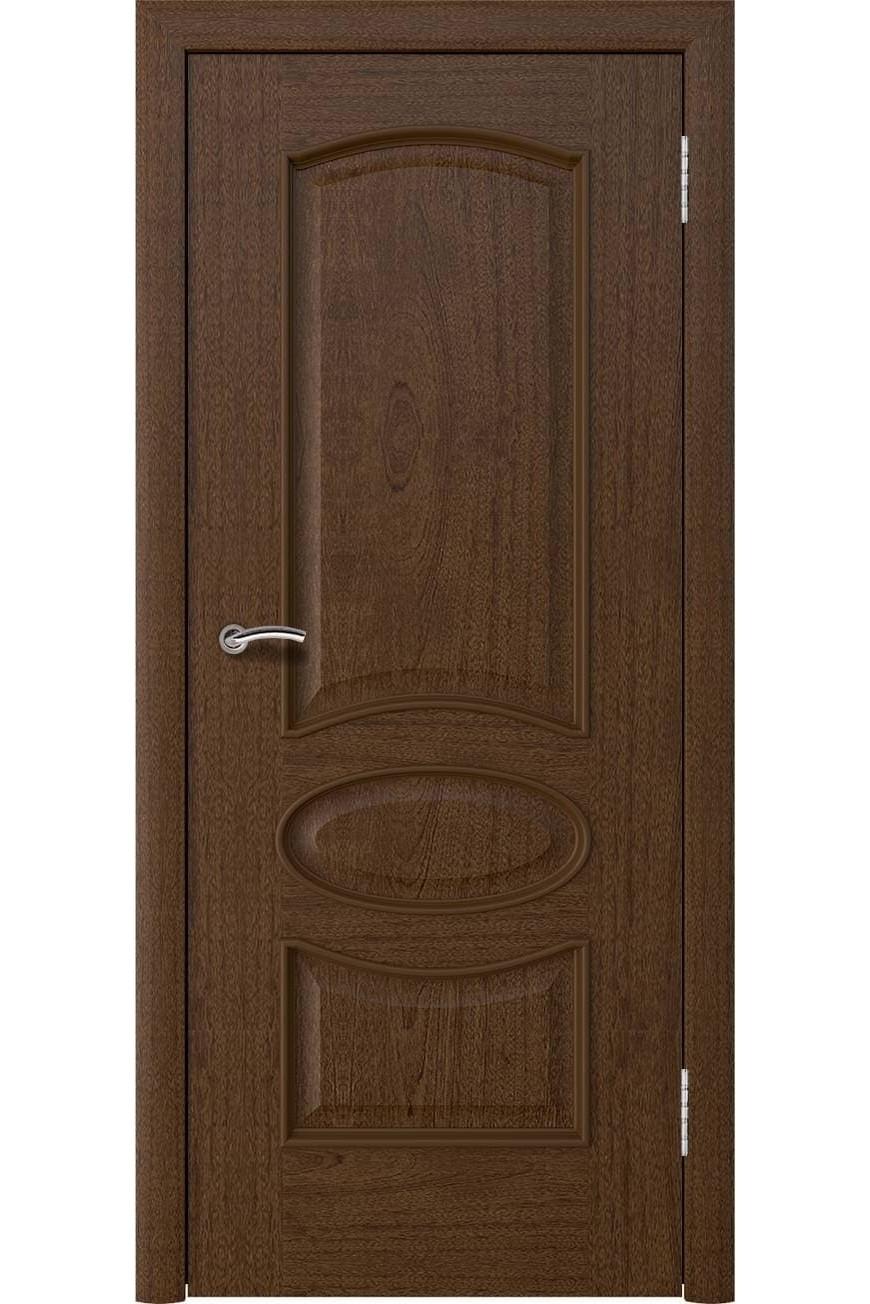"""Дверь массив шпон """"Нимфа"""" красное дерево, Эллада"""