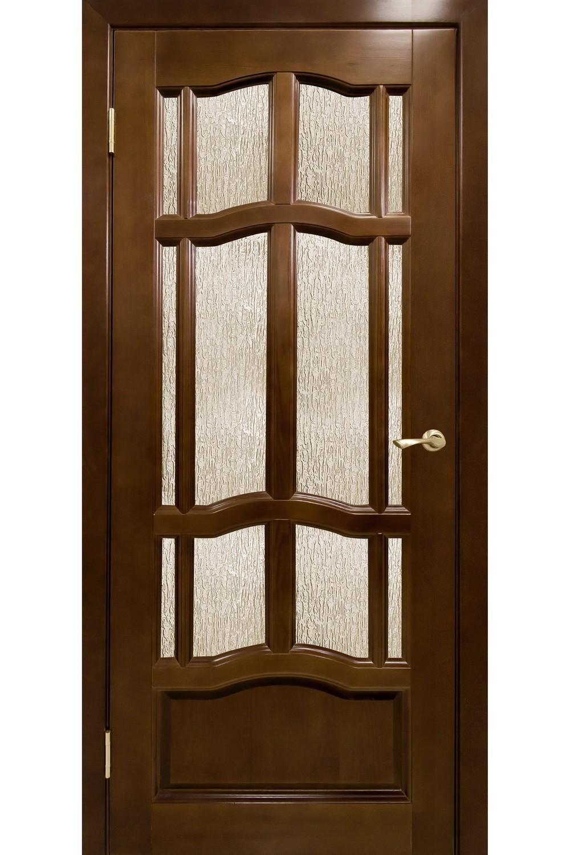 """Дверь массив крашенный """"Ампир"""" остекленная, Ветлуга"""