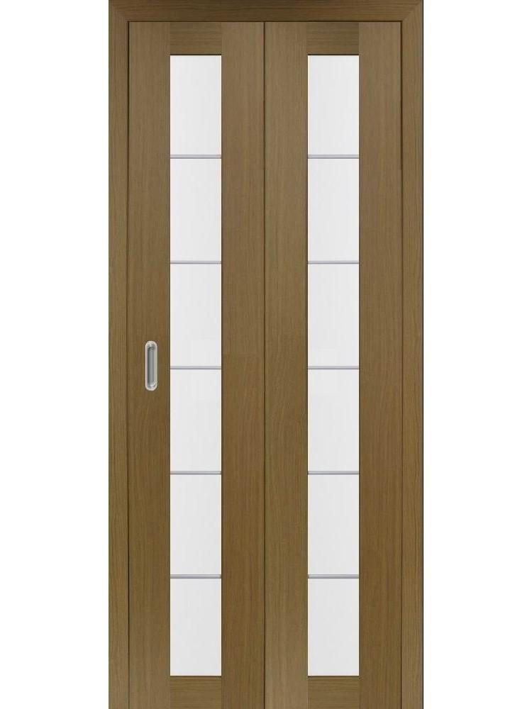 """Дверь-книжка Оптима Порте """"асс 501.2"""" остекленная (алюм. молдинги)"""