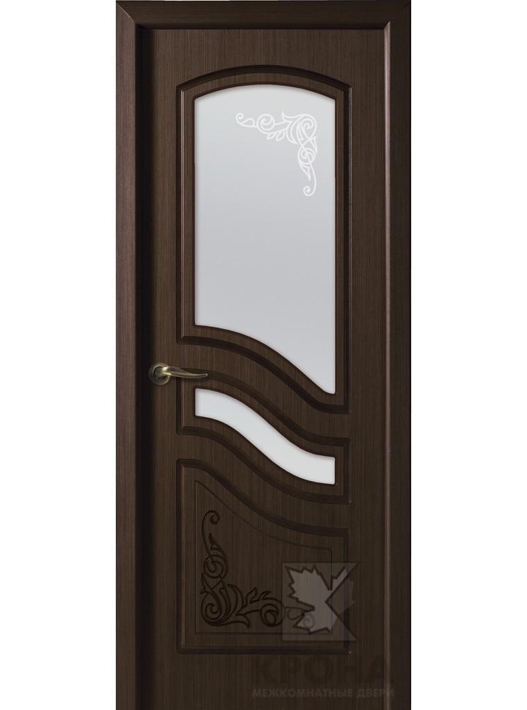 """Дверь остекленная шпонированная """"Ривьера"""" орех, Мариам"""