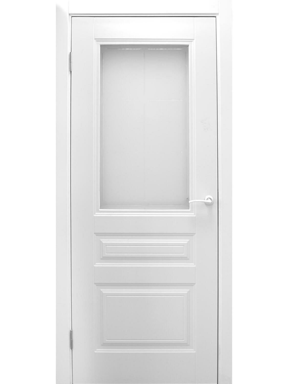 """Дверь эмаль """"АМПИР"""" остекленная, Левша"""