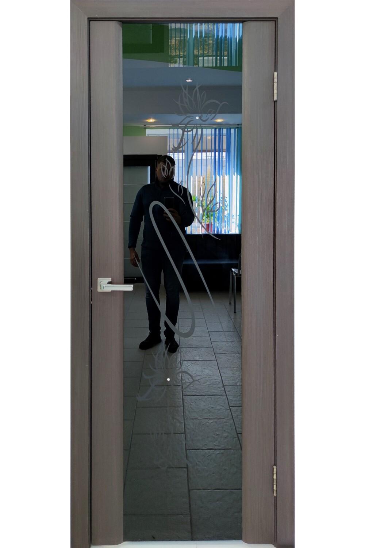 """Дверь остекленная эко-шпон """"Триплекс"""" венге, Ковров"""