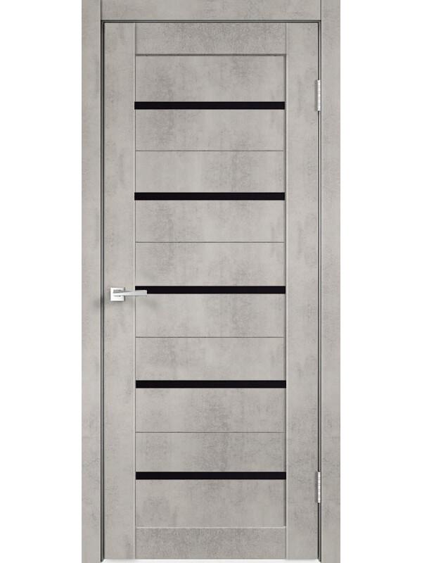 """Дверь эко-шпон """"PV-02"""" бетон, остекленная"""