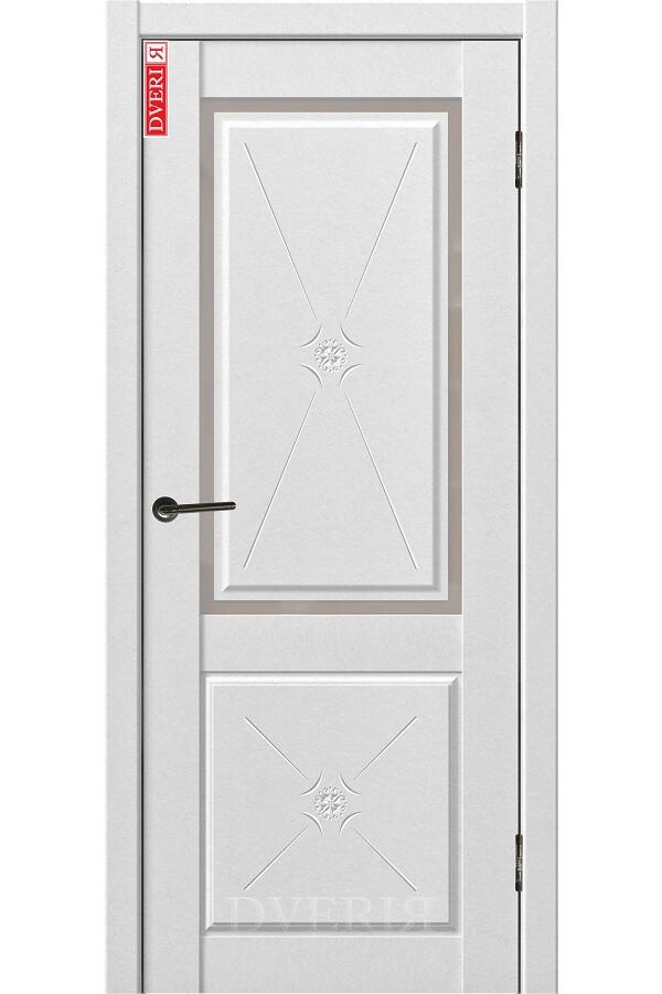 """Дверь """"Бьянко 23"""" остекленная, ДвериЯ"""