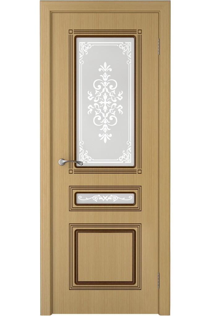 """Дверь остекленная шпонированная """"Стиль 3"""", Левша"""