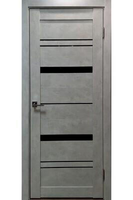 """Дверь эко-шпон """"PV-03"""" бетон, остекленная графит"""