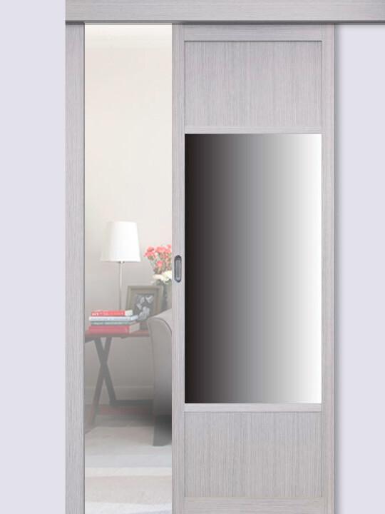 Перегородка 131.111 зеркало одностворчатая, Оптима Порте