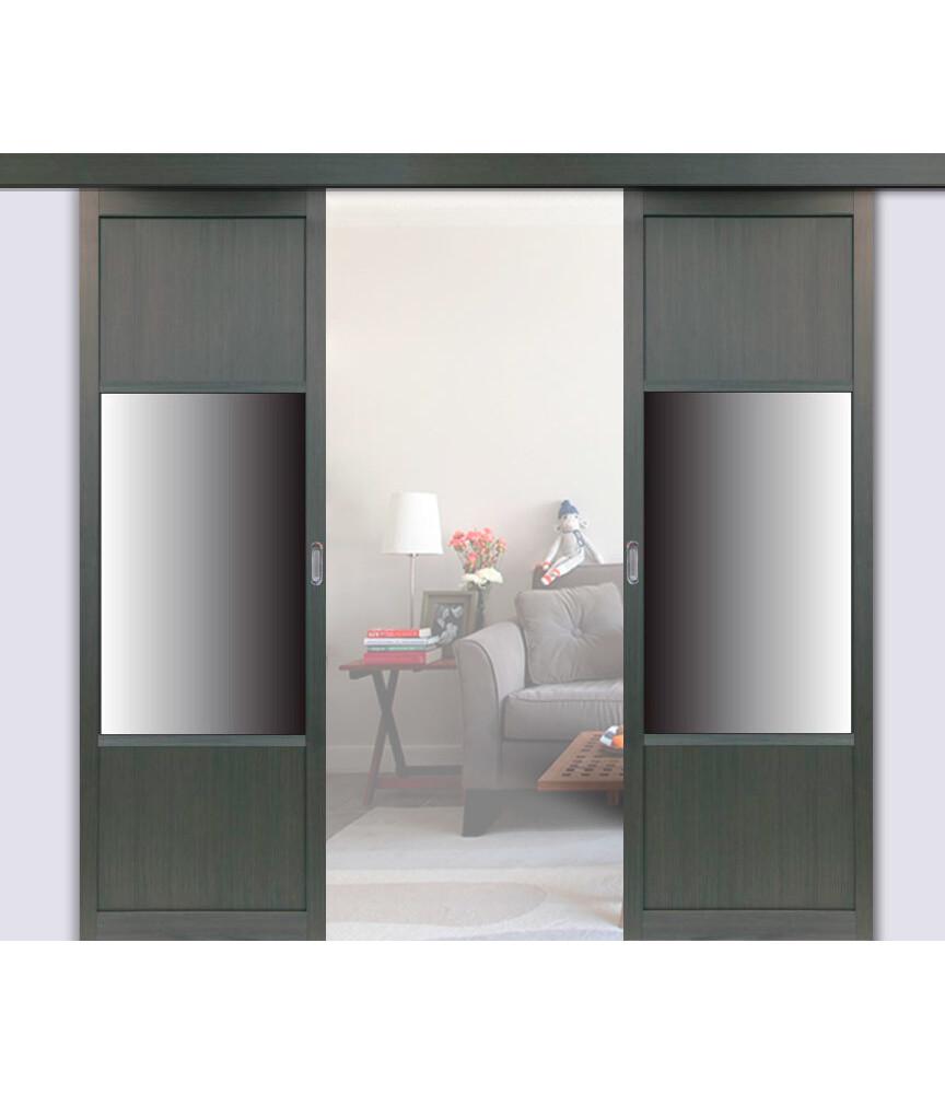 Перегородка 131.111 двустворчатая с зеркалом, Оптима Порте
