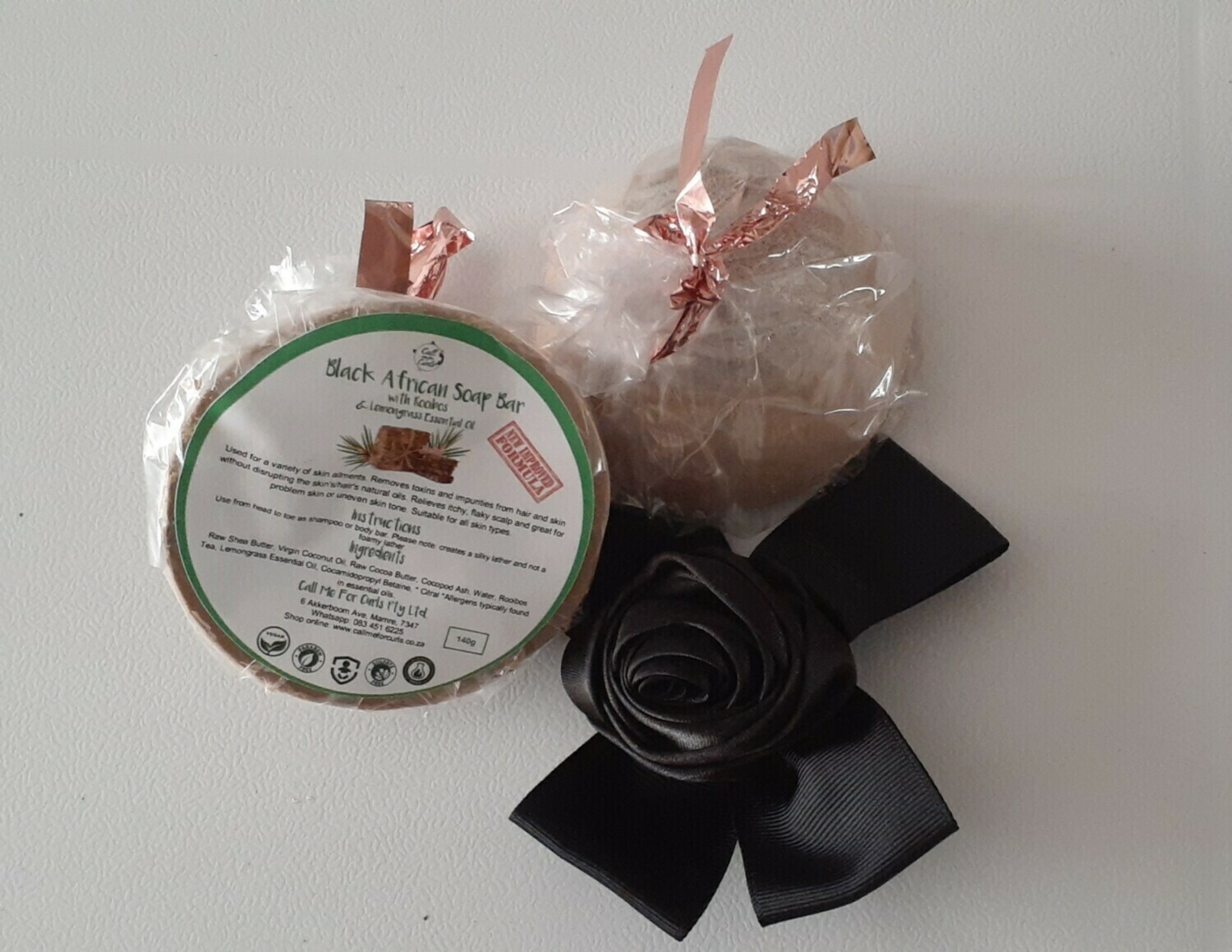 ​Black African Soap Bar with Rooibos and Lemongrass Oil