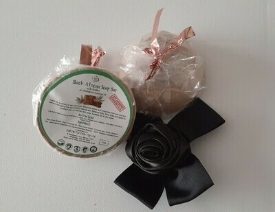 Black African Soap Bar with Rooibos and Lemongrass Oil