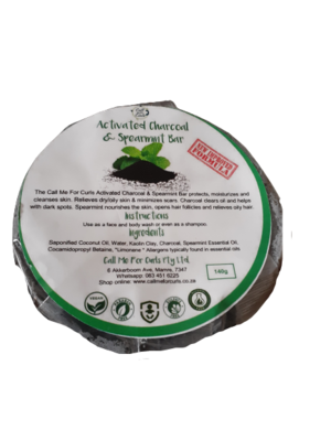 Activated Charcoal Bar with Spearmint Oil (140g)