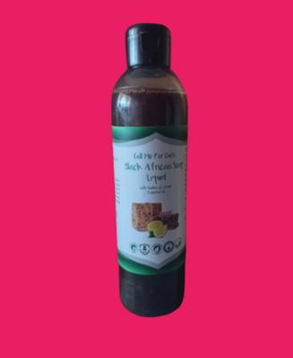 Black African Soap Liquid with Rooibos & Lemon Oil (250ml)