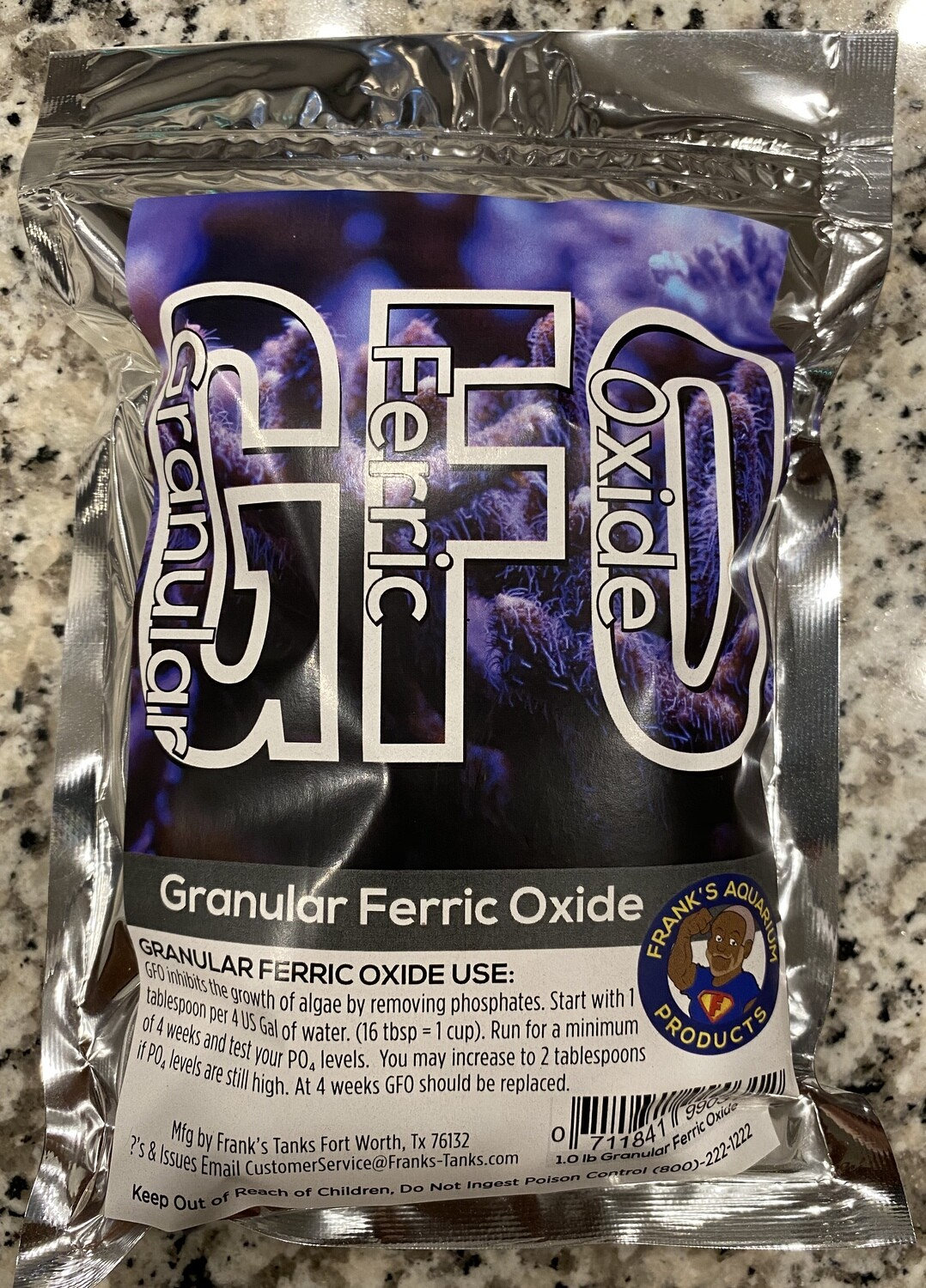 Frank's Aquarium Products High Capacity GFO 1lb  -----My GFO is High Capacity ONLY. I do NOT sell standard GFO!