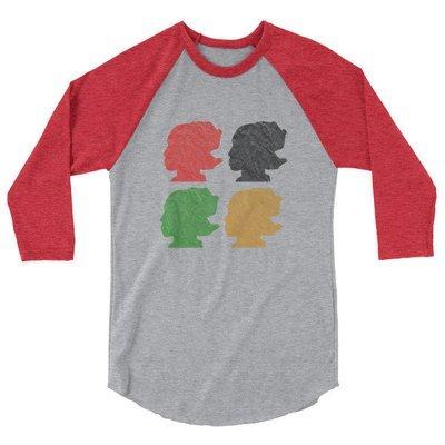 DJ Quartet 3/4 sleeve raglan shirt