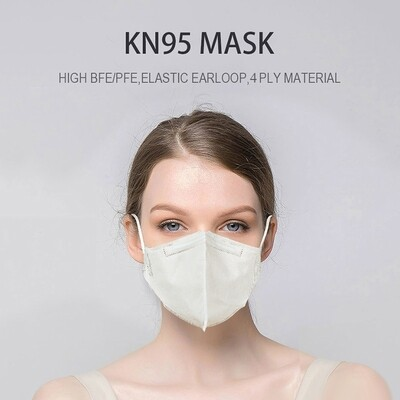 2 Pcs. KN95 Mask Elastic EarLoop, 4 PLY Material