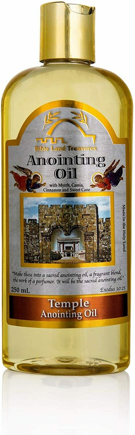 Bible Land Treasures Anointing Oil for Prayer, Blessing Oil of Gladness | Temple, 250 ml