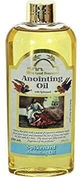 Bible Land Treasures Anointing Oil for Prayer, Blessing Oil of Gladness | Spikenard, 250 ml
