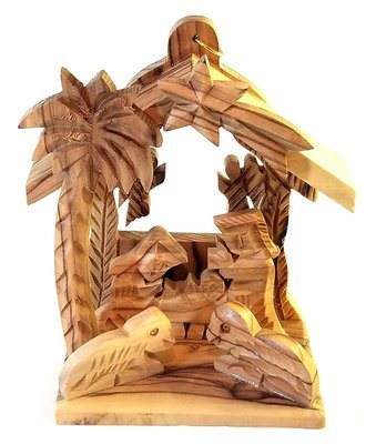 Holy Land Olive Wood Nativity Ornament