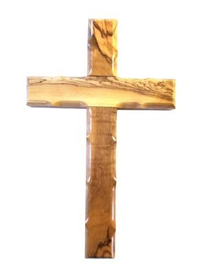 Handcrafted Olive Wood Cross from Bethlehem - Medium
