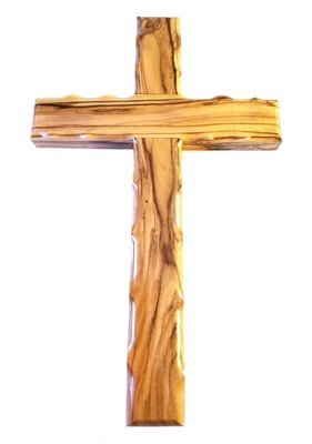 Handcrafted Olive Wood Cross from Bethlehem - Large