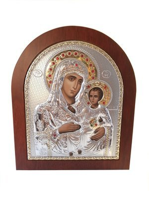 Catholic Silver 925′ Icon The Holy Family: Mary and Jesus