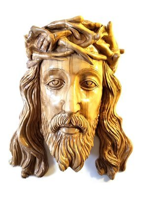 Carved Olive wood Jesus Wall Plaque from Bethlehem