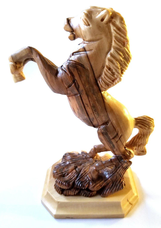 Horse Sculpture carved from Bethlehem Olive Wood